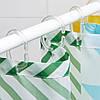 Шторка для ванни і душа з кільцями і штангою IKEA BJÄRSEN 180x200 см біла ІКЕА БЙАРСЕН, фото 6