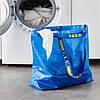 Прочная хозяйственная эко-сумка IKEA FRAKTA 45x18x45 см/36 л синяя сумка ИКЕА ФРАКТА, фото 4