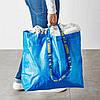 Прочная хозяйственная эко-сумка IKEA FRAKTA 45x18x45 см/36 л синяя сумка ИКЕА ФРАКТА, фото 5