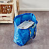 Прочная хозяйственная эко-сумка IKEA FRAKTA 45x18x45 см/36 л синяя сумка ИКЕА ФРАКТА, фото 6