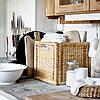 Плетений коробка для зберігання речей ротанг IKEA BRANÄS 32x34x32 см ящик органайзер коричневий ІКЕА БРАНЕС, фото 4