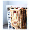 Плетений коробка для зберігання речей ротанг IKEA BRANÄS 32x34x32 см ящик органайзер коричневий ІКЕА БРАНЕС, фото 7