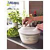 Сушилка-миска дуршлаг для листьев салата IKEA TOKIG пластиковая белая сушка для зелени ИКЕА ТОКІГ, фото 3