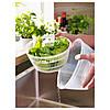 Сушилка-миска дуршлаг для листьев салата IKEA TOKIG пластиковая белая сушка для зелени ИКЕА ТОКІГ, фото 5
