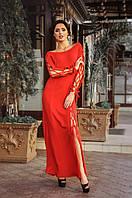 Платье длинное Красное Со шнуровкой