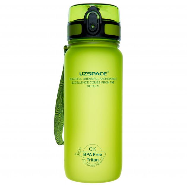 Пляшка фляга спортивна для води UZspace 3037 650 мл Салатовий (gr_012035)
