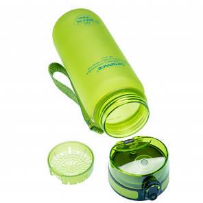 Пляшка фляга спортивна для води UZspace 3037 650 мл Салатовий (gr_012035), фото 2