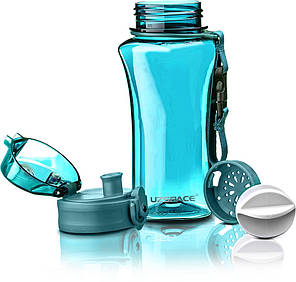 Бутылка фляга спортивная для воды UZspace 6005 350 мл Голубой (gr_012063), фото 2