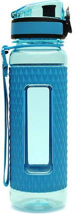 Бутылка фляга спортивная для воды UZspace 5044 450 мл Голубой (gr_012017), фото 2