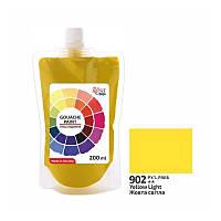 Гуашева фарба Жовта світла 200 мл ROSA Studio