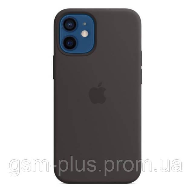 Чехол (sillicon case) для iphone 12 mini with magsafe and splash black