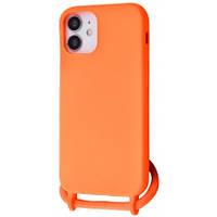 Чохол (Lanyard Case) для iPhone 12 Mini зі шнуром Orange