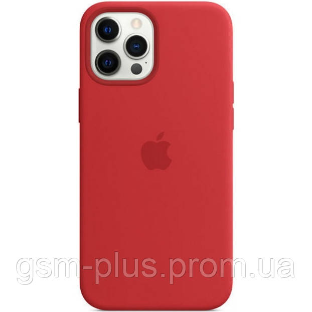 Чехол (sillicon case) для iphone 12 pro max with magsafe red