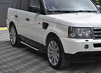 Range Rover Sport 2005-2013 гг. Боковые пороги Allmond Grey (2 шт., алюминий)
