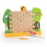 Деревянная настольная игра Viga Toys Стена из кирпичиков (44566)