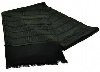 Красивый мужской шерстяной шарф 180 на 43 см 50149-3 зеленый