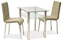 Стол обеденный Signal Pixel 80х60 см Прозрачный PIXEL, КОД: 1553379