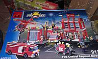"""Интересная игрушка Конструктор Brick 911 """"Пожарная охрана"""" 980 деталей! Подарки для малышей Подарок сыну"""