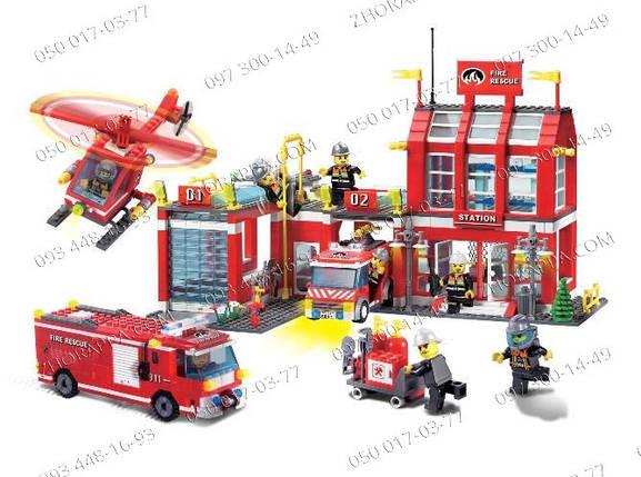 """Интересная игрушка Конструктор Brick 911 """"Пожарная охрана"""" 980 деталей! Подарки для малышей Подарок сыну, фото 2"""