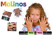 Детский лак-карандаш для ногтей Malinos Creative Nails на водной основе (2 цвета Морской волны + Розовый)