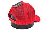 Бейсболка Classic сетка однотонная 56-59 см красная (C 0919-514), фото 3
