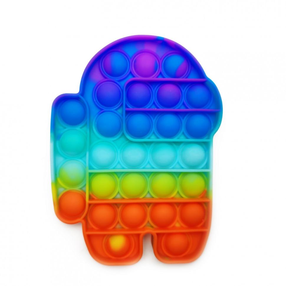 "Іграшка-антистрес ""POP-IT"" PPT-Amg(Multicolor) Among Us Райдужний"