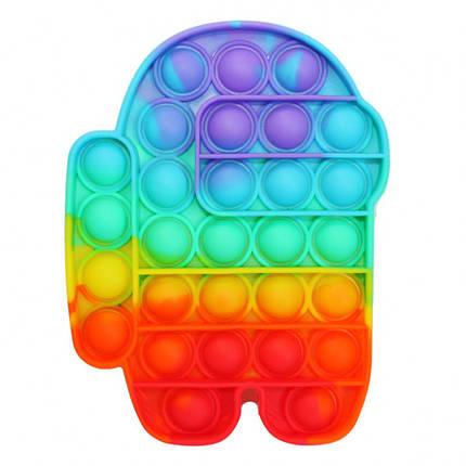 """Іграшка-антистрес """"POP-IT"""" PPT-Amg(Multicolor) Among Us Райдужний, фото 2"""