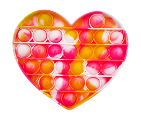 "Игрушка-антистресс ""POP-IT"" PPT-H(Yellow-Pink) Сердце Жёлто-Розовый, фото 2"