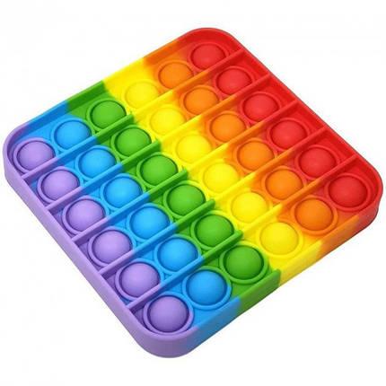 """Іграшка-антистрес """"POP-IT"""" PPT-S(Multicolor) Квадрат Райдужний, фото 2"""