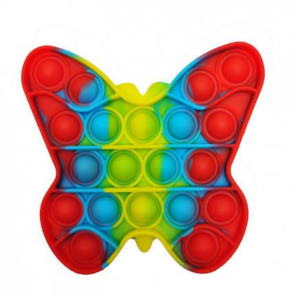 """Поп-ит силиконовая игрушка, пупырка """"Бабочка"""", фото 2"""