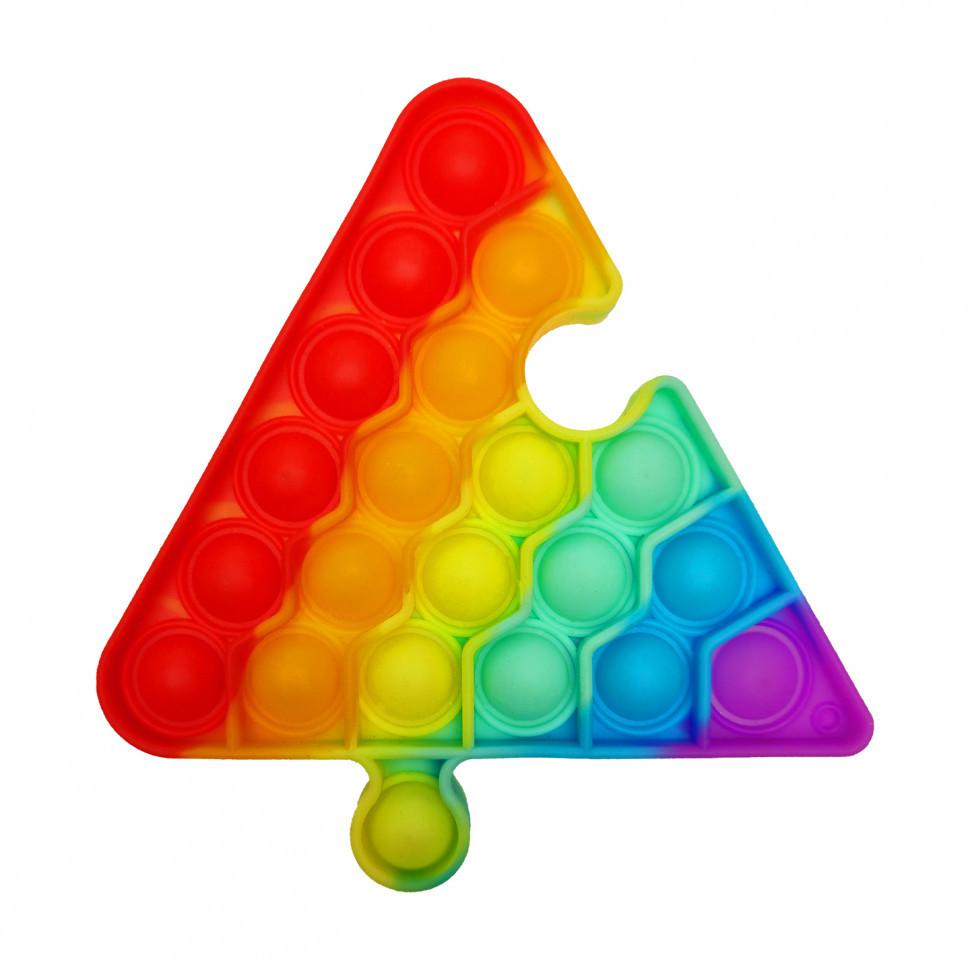 """Іграшка-антистрес """"POP-IT"""" PPT-T(Multicolor) Трикутник Різнобарвний"""