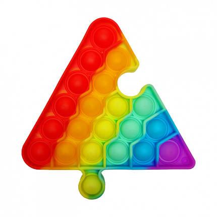 """Іграшка-антистрес """"POP-IT"""" PPT-T(Multicolor) Трикутник Різнобарвний, фото 2"""