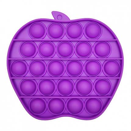 """Игрушка-антистресс """"POP-IT"""" PPT-A(Violet) Яблоко Фиолетовый, фото 2"""