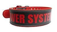 Пояс для важкої атлетики Power System Beast PS-3830 Black/Red XL