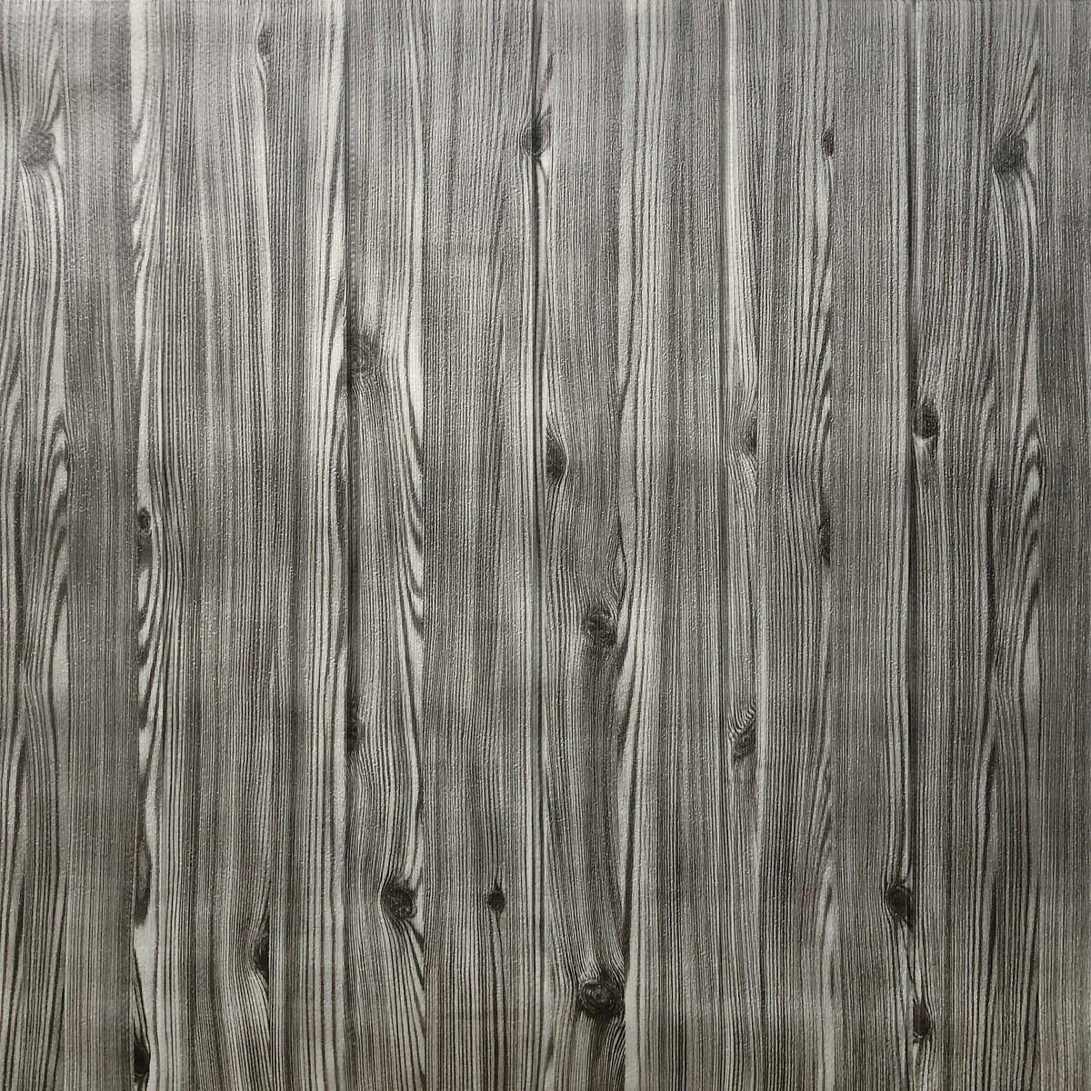 Самоклеюча декоративна 3D панель графітове дерево 700х700х4мм