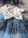 Святковий набір, плаття на дівчинку, хрестильне плаття на дівчинку 29. Розміри 62 см, 68 см, фото 2