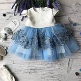Святковий набір, плаття на дівчинку, хрестильне плаття на дівчинку 29. Розміри 62 см, 68 см, фото 3