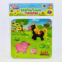"Гр Магнитные пазлы ""Ферма"" - VT 3204-11 (рус) (60) ""Vladi Toys"""