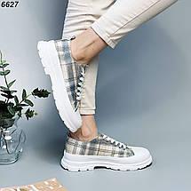 Кросівки жіночі літні в клітку, фото 2