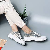Кросівки жіночі літні в клітку, фото 3