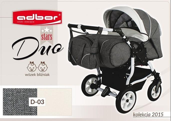Дитяча коляска для двійні Adbor Duo stars D 03