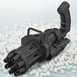 Кулемет генератор мильних бульбашок BUBBLE GUN BLASTER машинка для бульбашок автомат чорний код 10-1010, фото 2