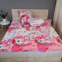 Детский комплект постельного белья Kris-Pol «Единороги» 150x220 Ранфорс