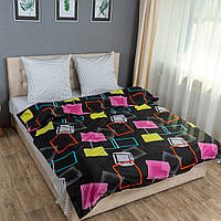 Комплект постельного белья KrisPol «Разноцветные квадраты» 200x220 Сатин