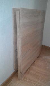 Тонкий стол-книжка обедененный Лайт трансформер складной из дсп дуб-сонома