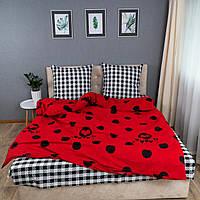 Комплект постельного белья KrisPol «Красный в горошек» 200x220 Бязь Голд