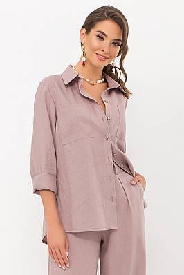 Женская рубашка цвета капучино