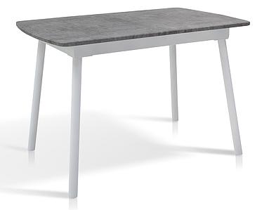 Стол раскладной Сиэтл МДФ 110/145 белый/серый мрамор TM Melbi