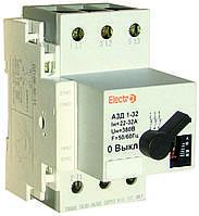 Автомат защиты двигателя АЗД 1-32  3 полюси  2,5А - 4A  380В