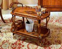 Стол сервировочный массив ясеня с ручной резьбой
